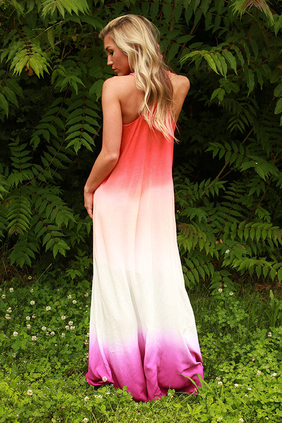 Forever Beautiful Ombre Maxi in Raspberry