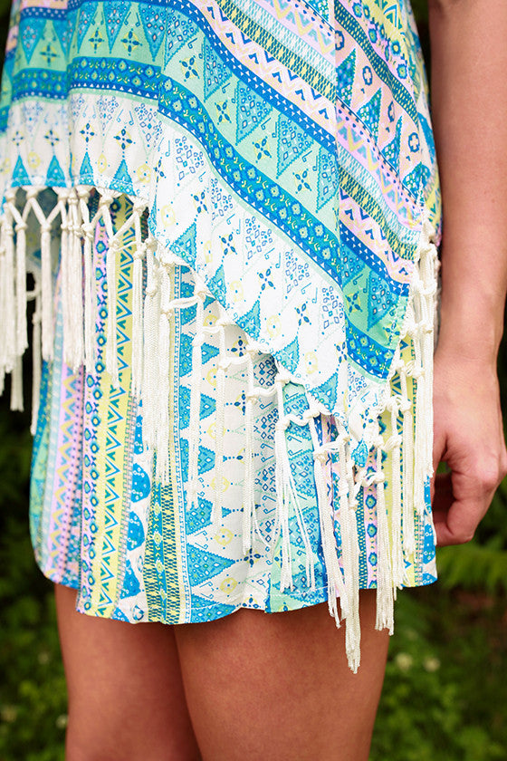 French Vacation Fringe Romper