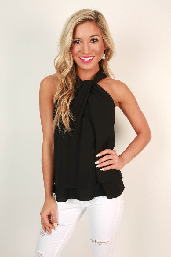 Martini Love Top in Black