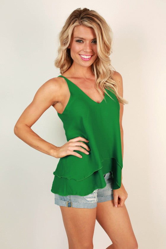 Friday I'm in Love Shift Tank in Dark Emerald