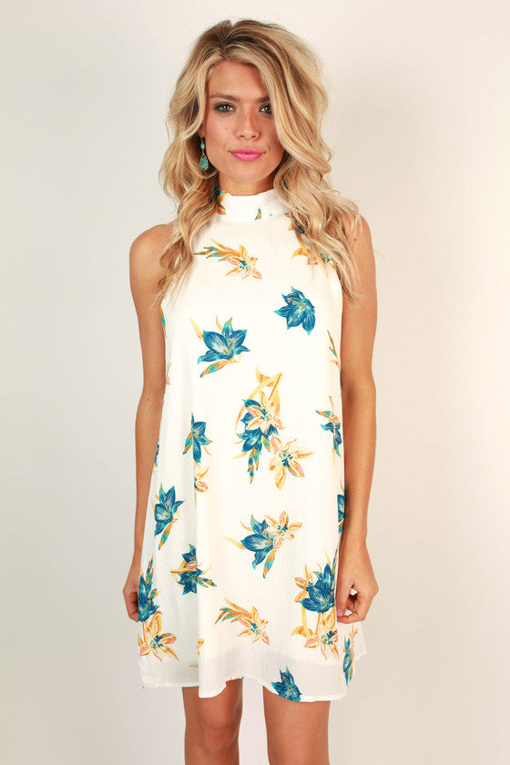 Island Hopper Floral Shift Dress