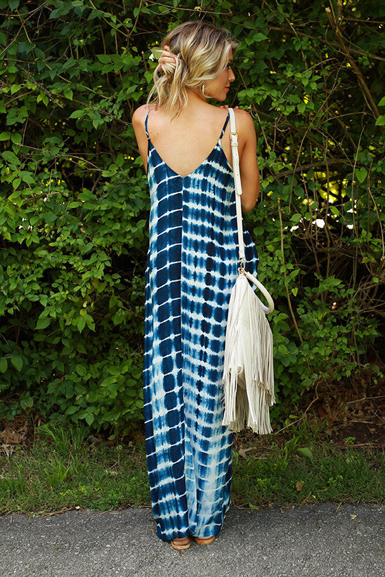 Blue Lagoon Beauty Maxi Dress
