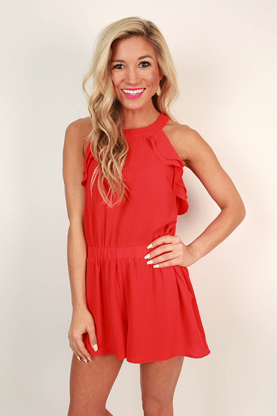 Making Headlines Ruffle Romper