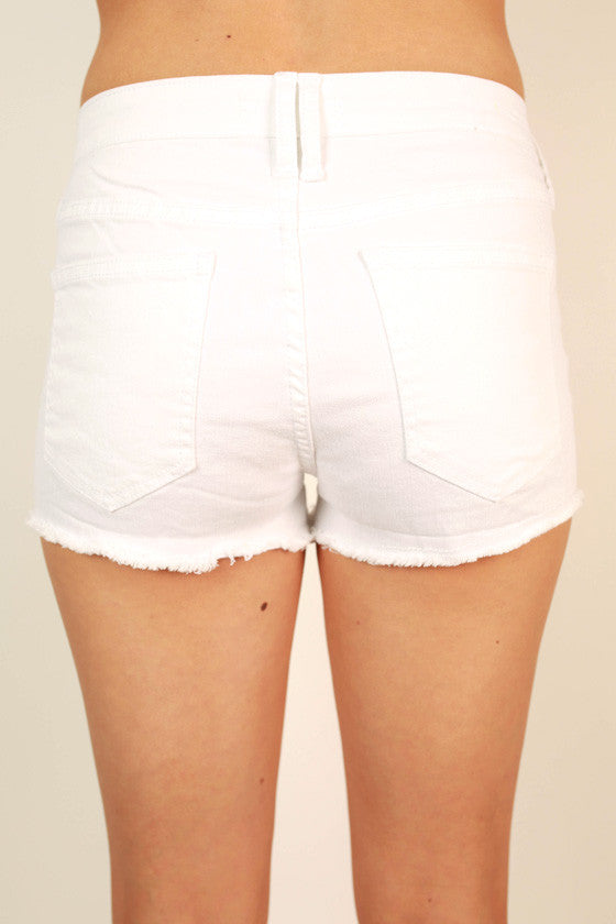 West Coast Weather Shorts in White