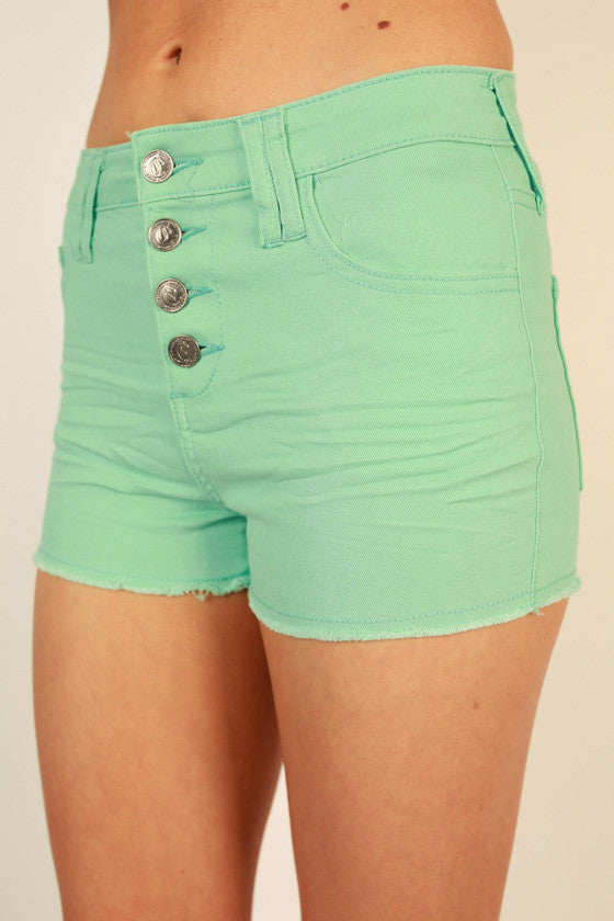 West Coast Weather Shorts in Mint