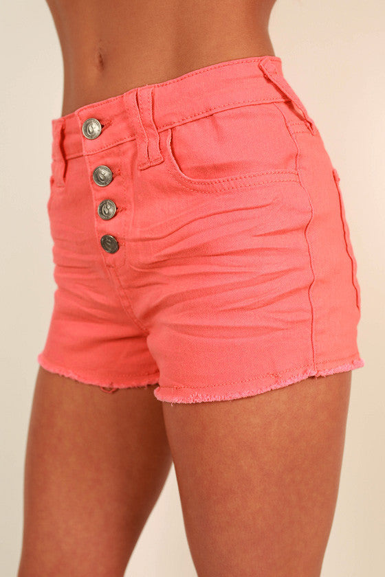 West Coast Weather Shorts in Coral