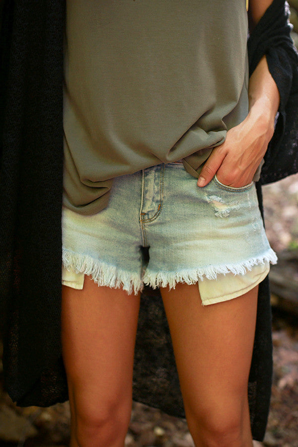 Miss Perfect Denim Shorts in Light Wash