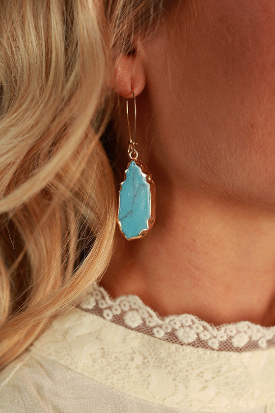 New Favorite Stone Earrings in Turquoise