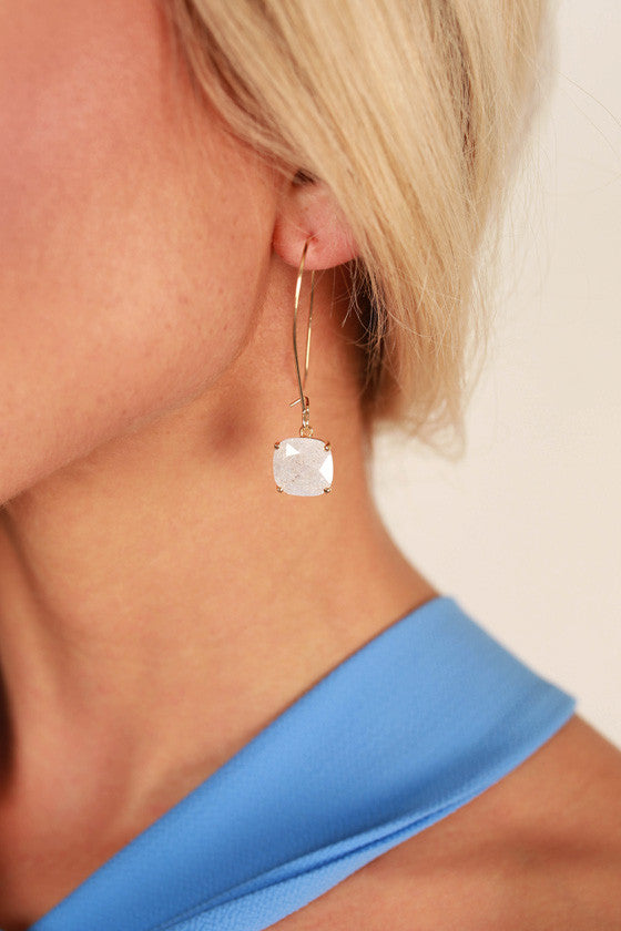 Your Highness Earrings in White