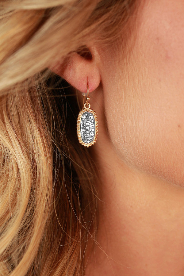 Pretty Please Pave Earrings in Silver