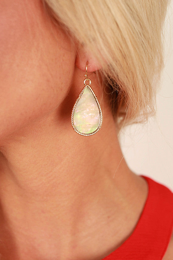 Love Ya to the Moon and Back Teardrop Earrings
