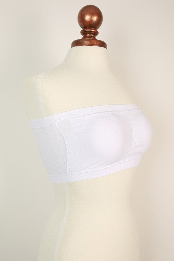 Seamless Bandeau in White