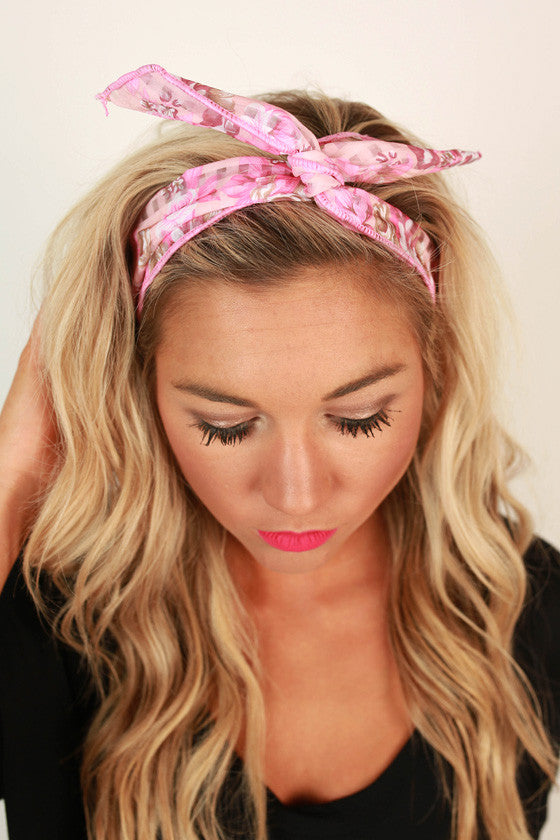 Floral Friendly Headband in Pink