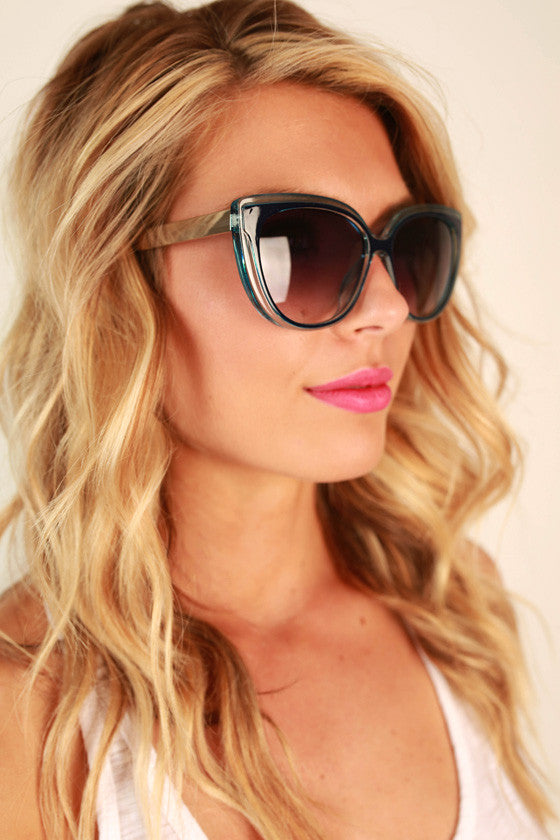 High Temp Sunglasses in Cobalt Blue