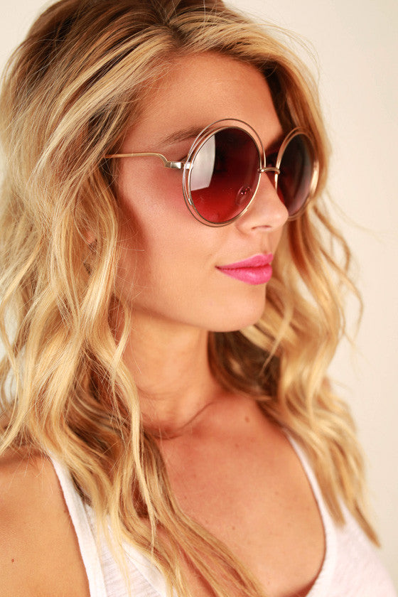 Chic Strolling Sunglasses in Royal Plum