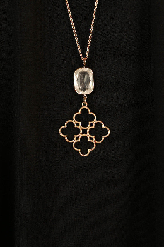 Crystal Cool Clover Necklace