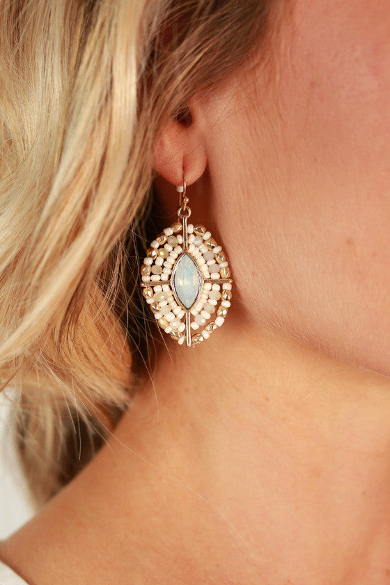 Sunday Sparkle Crystal Earrings in White
