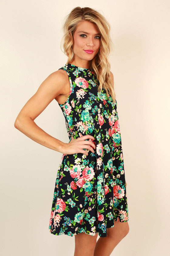 The Lola Tank Dress in French Floral