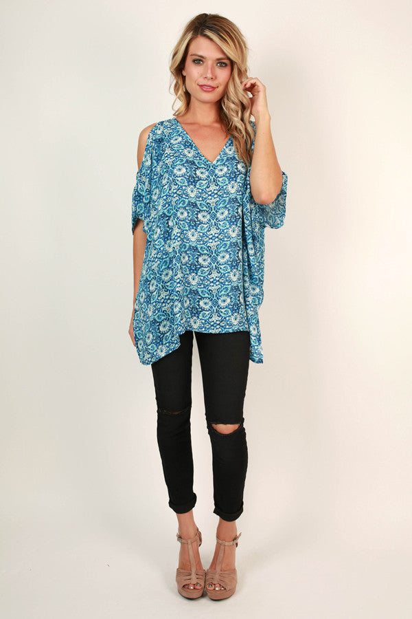 The Waverly Tunic in Mykonos Mosaic