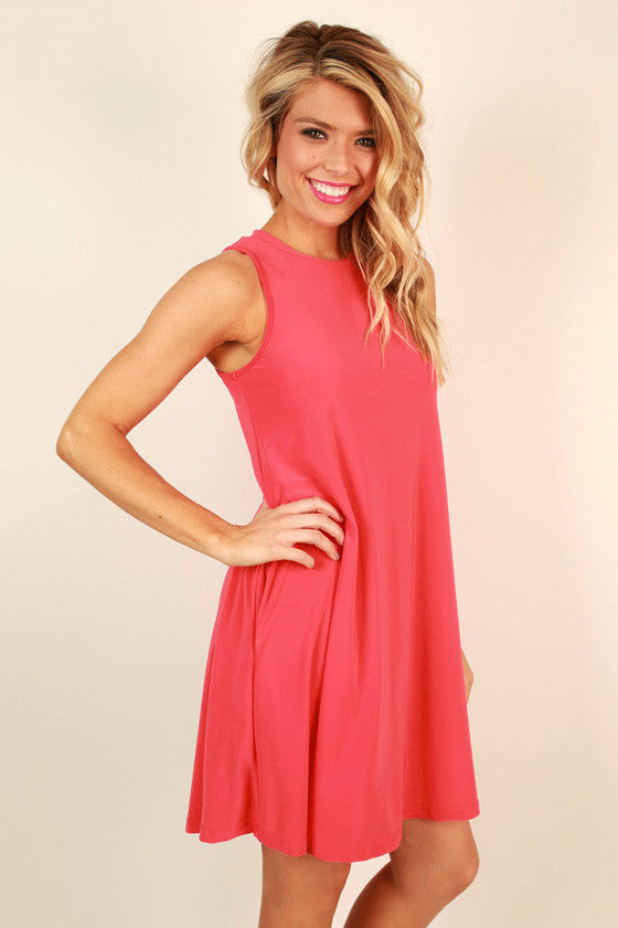 The Lola Tank Dress in Watermelon Punch