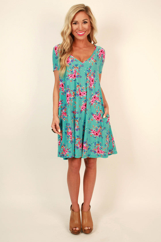 The Emma Shift Dress in Turks Floral