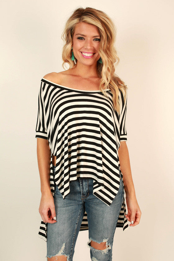 Merry Go Wow Stripe Tee