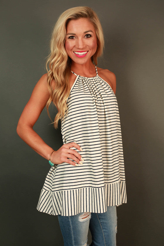Happy Days Stripe Tank