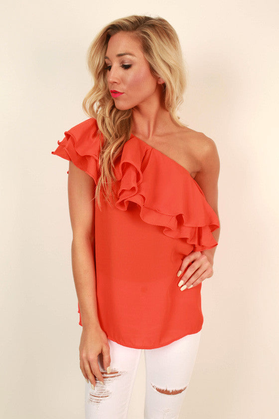 Salsa Dancing at Midnight Ruffle Top