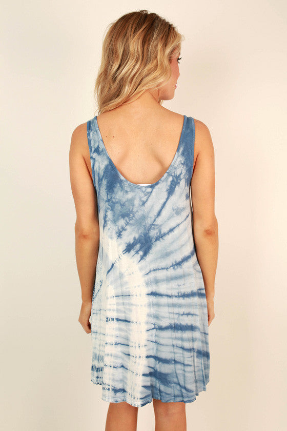 Water's Edge Tie Dye Shift Dress