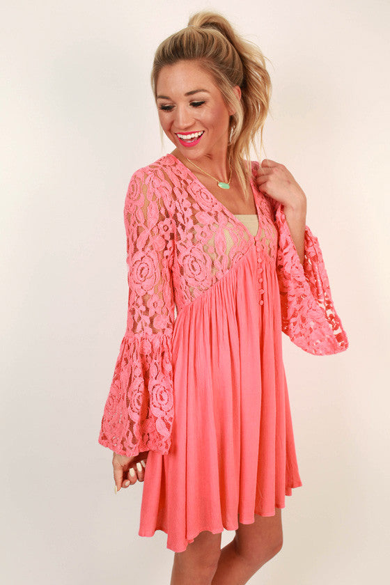 Rosebud Lace Babydoll Dress