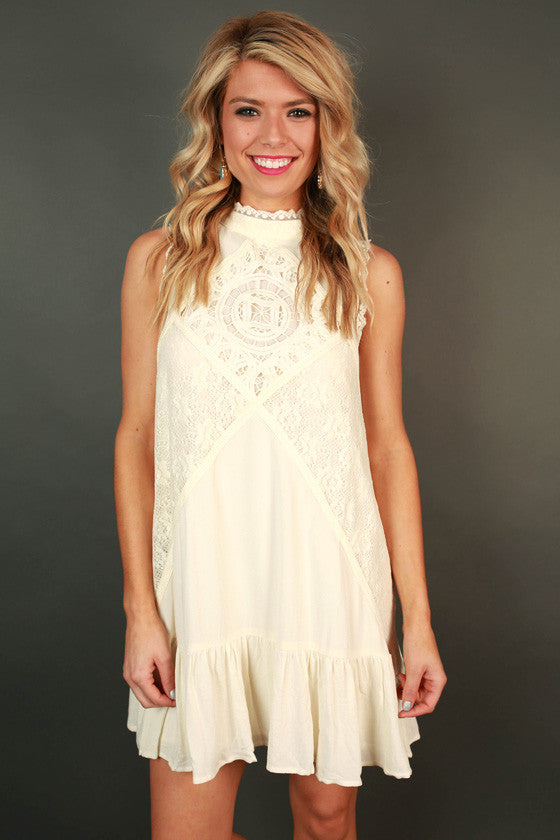 Luxe in Lace Shift Dress