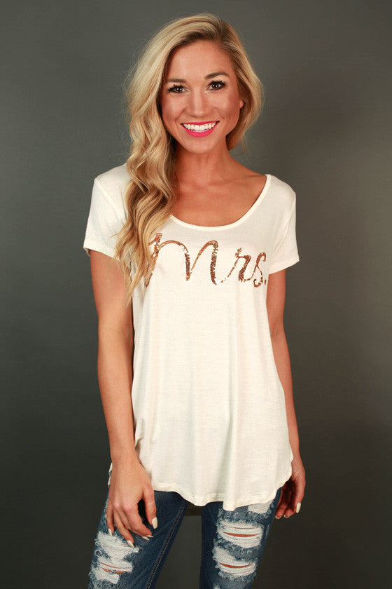The Mrs. Sequin Tee