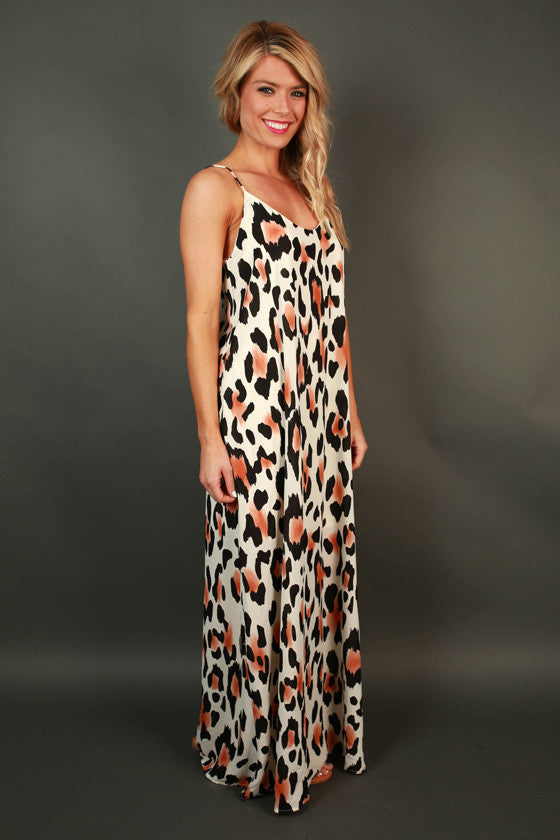 Lady in Leopard Maxi Dress