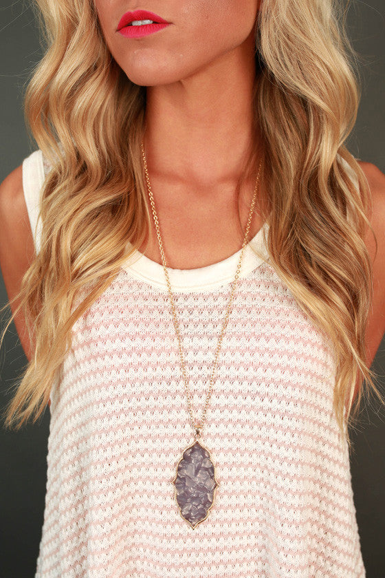 Classy in the City Necklace in Dark Grey