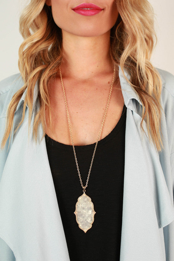Classy in the City Necklace in Ivory
