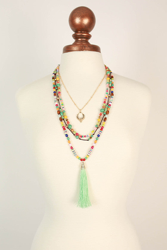 Make My Wish Come True Tassel Necklace