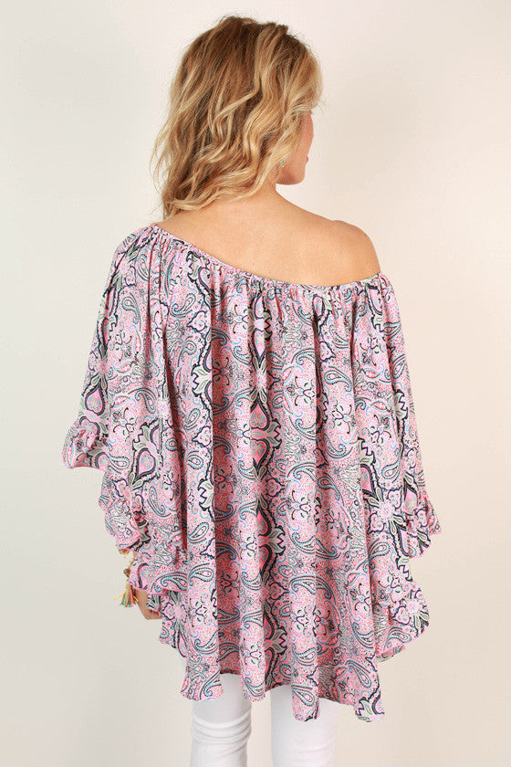 The Chloe Chiffon Top in Paisley Cosmopolitan