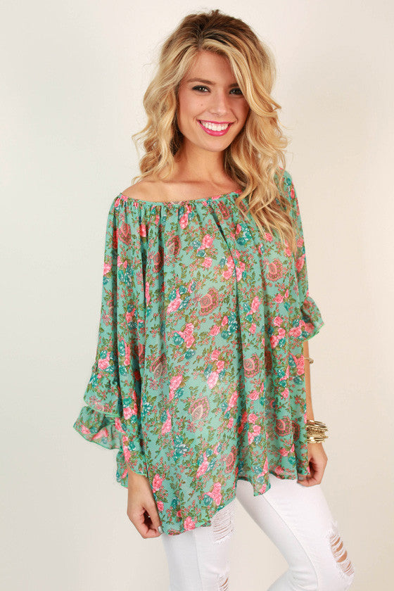 The Chloe Chiffon Top in Antoinette Floral