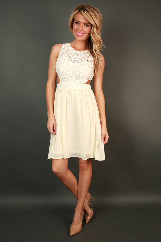Cape Cod Crush Fit & Flare Dress in Cream