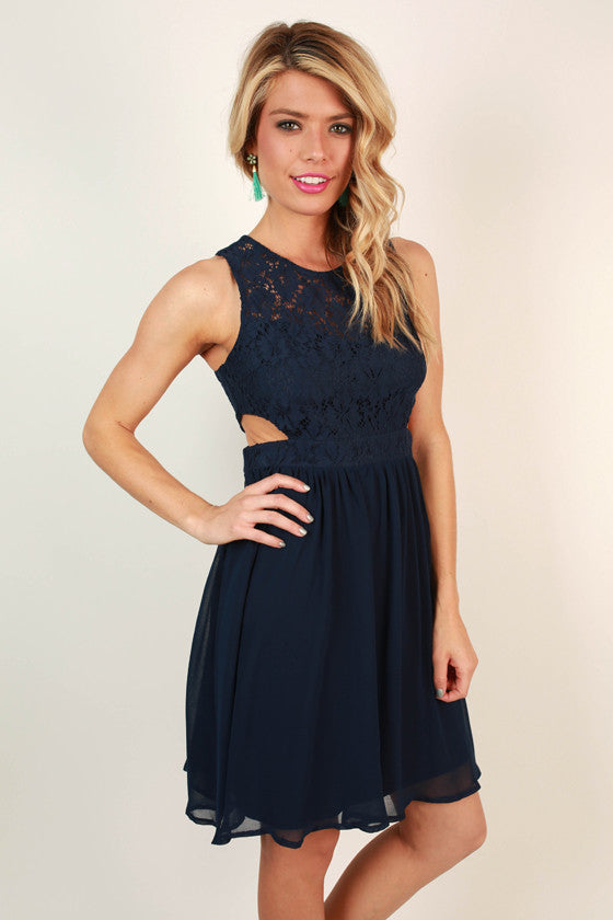 Cape Cod Crush Fit & Flare Dress in Navy