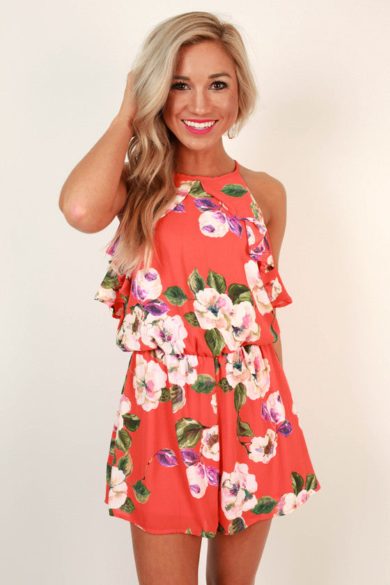 What a Lady Floral Romper