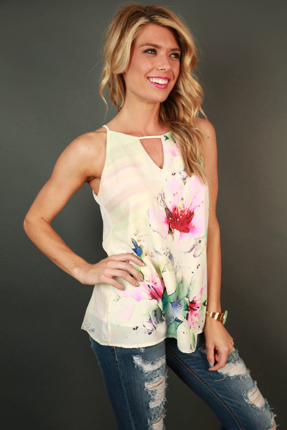 Lotus Lovely Floral Tank