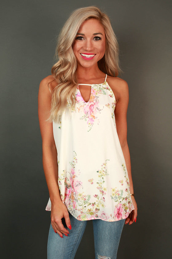 Floral Sweetheart Tank