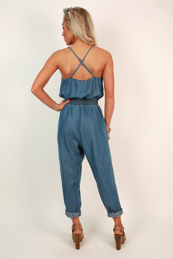Coast to Coast Chambray Jumpsuit