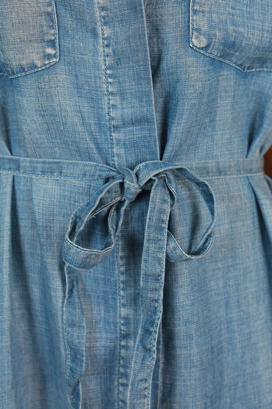 Prep in Your Step Chambray Dress