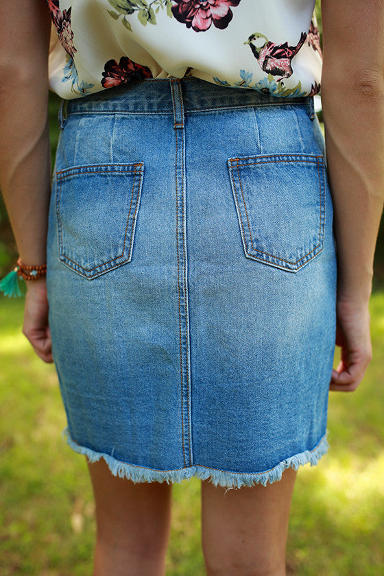Uptown Fun Denim Skirt