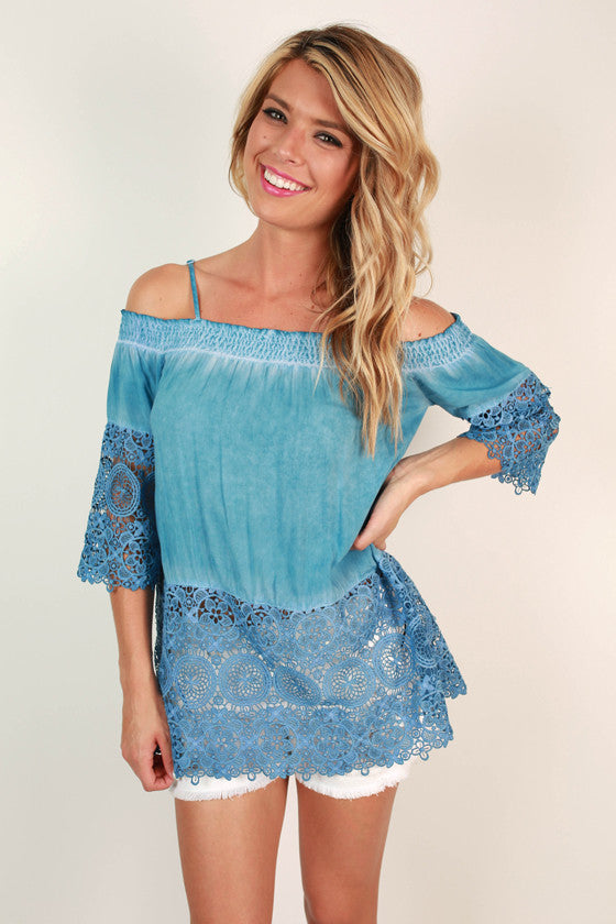 Patio Weather Cold Shoulder Top