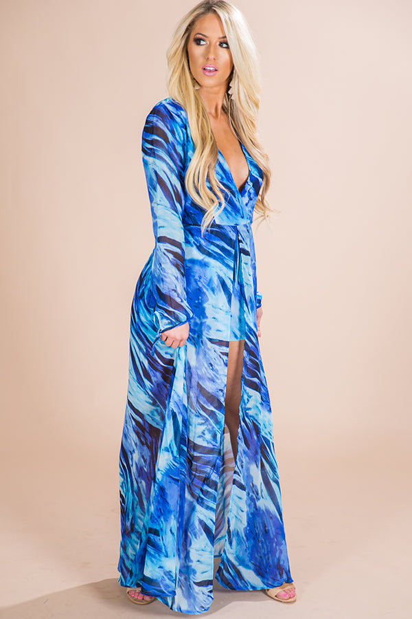 Making Waves Print Maxi