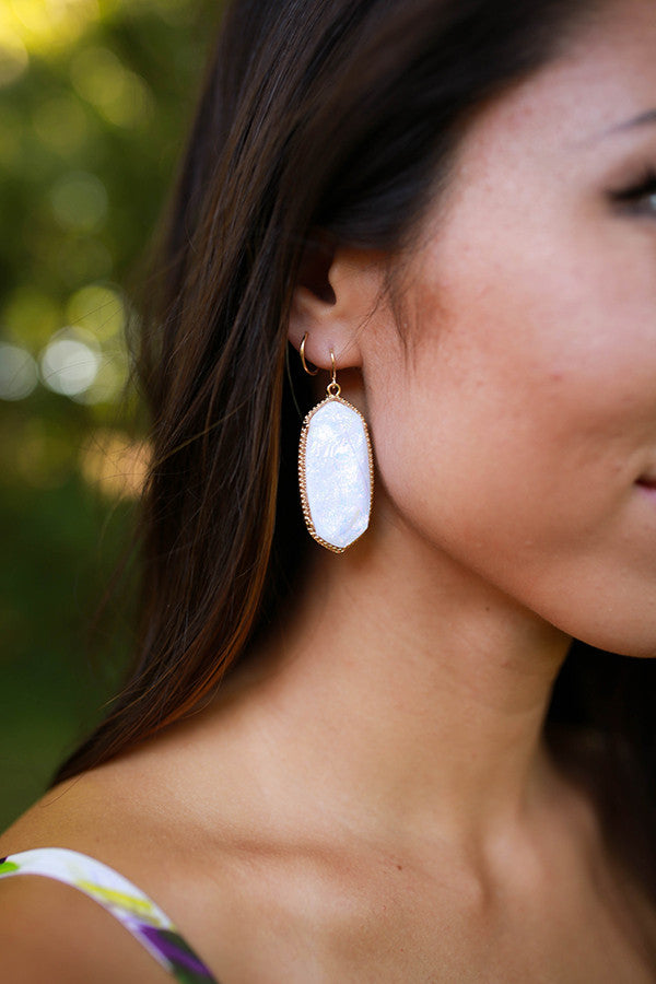 Spruce Up Stone Earrings in Opal