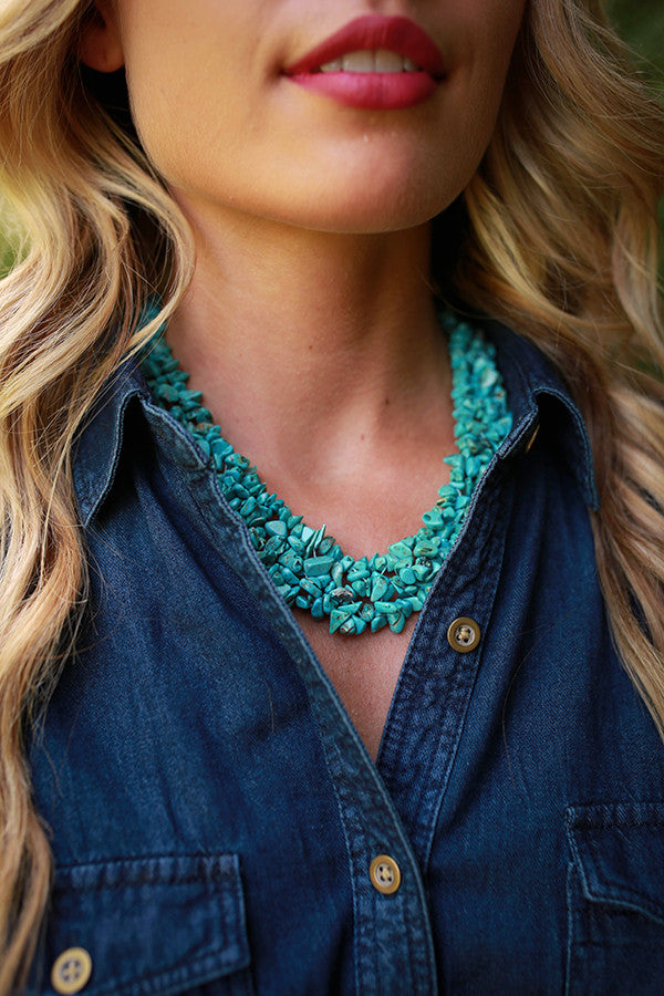 Glam All Day Stone Necklace